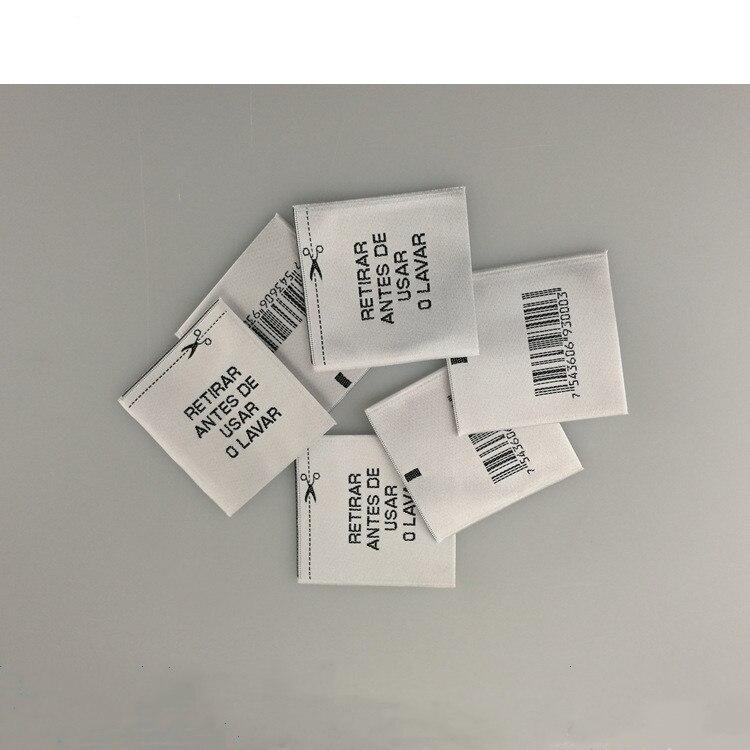 Eas RF 8.2 mhz Não-tecido personalizado Marca de produto para loja de roupas de vestuário