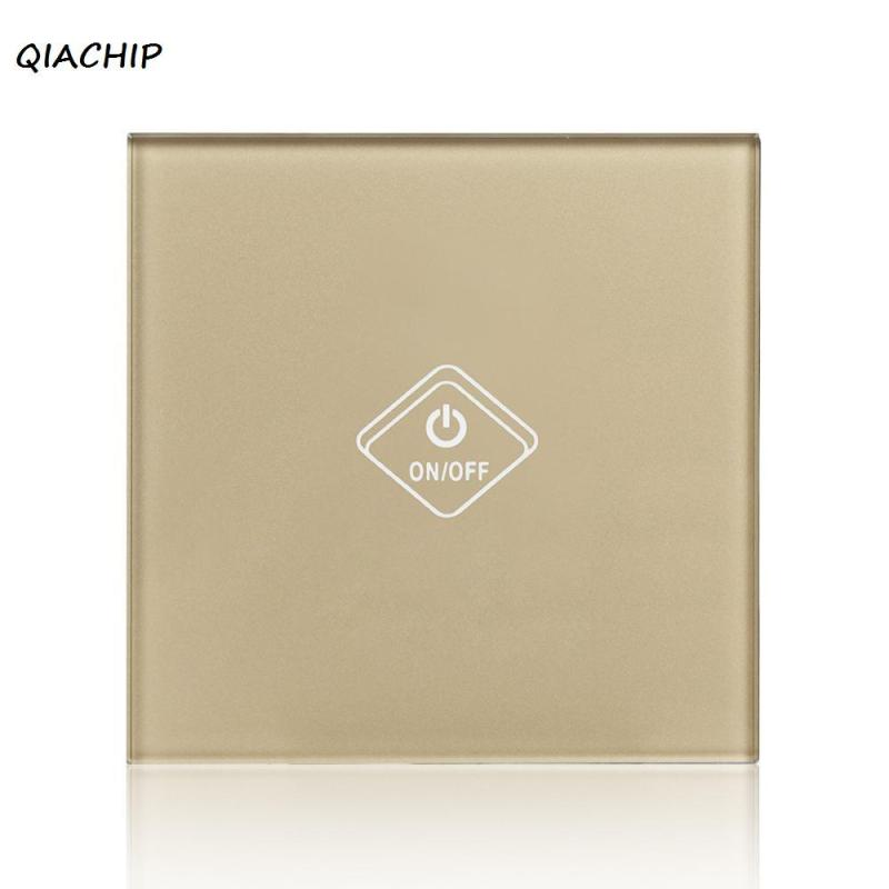 QIACHIP UK Plug WiFi Smart Switch 1 Gang Light Wall Switch Smart Home Remote Control On Off Touch Work With Amazon Alexa H3 3gang1way uk wall light switches ac110v 250v touch remote switch