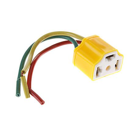 10pcs <font><b>H4</b></font> Bulb Base 120mm Lampholder <font><b>Socket</b></font> <font><b>Lamp</b></font> Holder For Car Bulb image