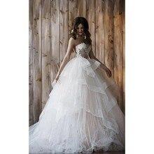 New Custom Made 2019 Wedding Dress With Detachable Skirt Two