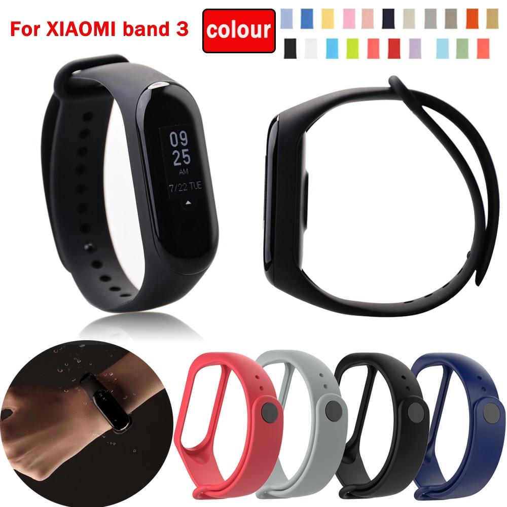 Bracelet Watch Band  For Xiaomi Mi Band 4 /Mi Band3 Replacement Original Silicone Smart Wristband Fitness Tracker Wrist Strap