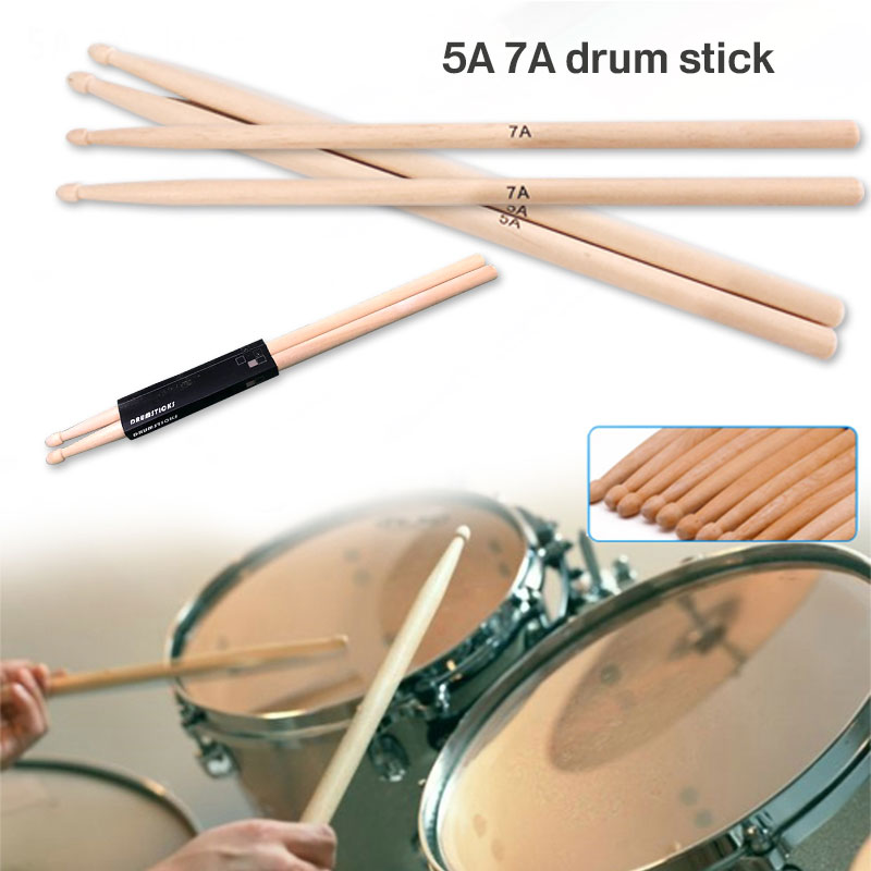 2Pcs 1Pack Drum Sticks Drumstick Gadget 5A7A Professional Accessories Hard Maple Drum Accessories Musical Instruments Supplies