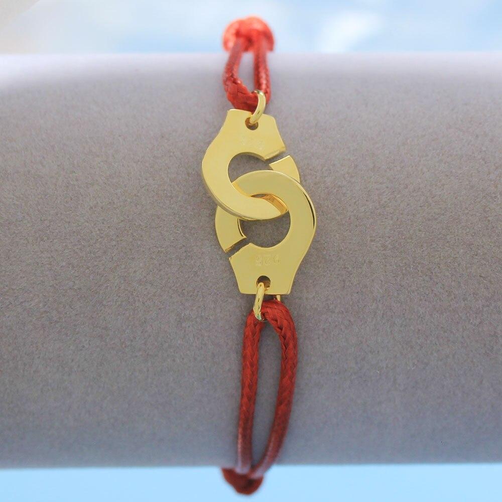 Мужские ювелирные изделия из стерлингового серебра 925 браслет наручники для женщин Bijoux с регулируемой веревкой 925 Серебряный кулон браслет для мужчин - Окраска металла: RY