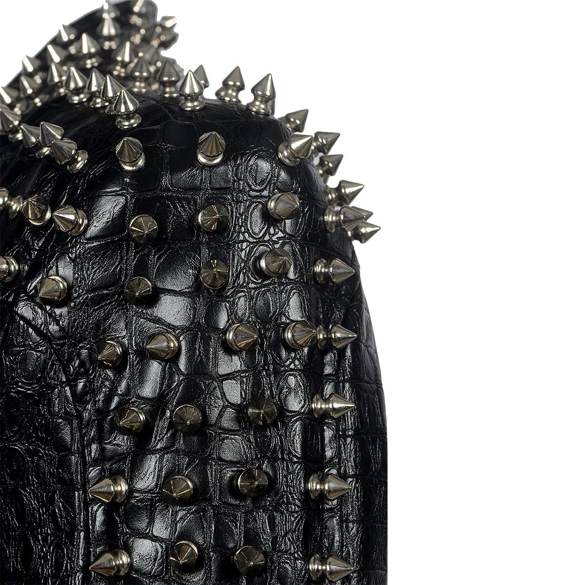 Outono quente grosso longo casaco de couro preto mulheres nova reversão delgados blusão de couro PU Parka chamariz a Mujahir WZ791 - 5