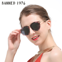 BANNED Polarized Sunglasses For Women Fashion Vintage Cool Driving Feminin Sun Glasses Vintage With Original Brand
