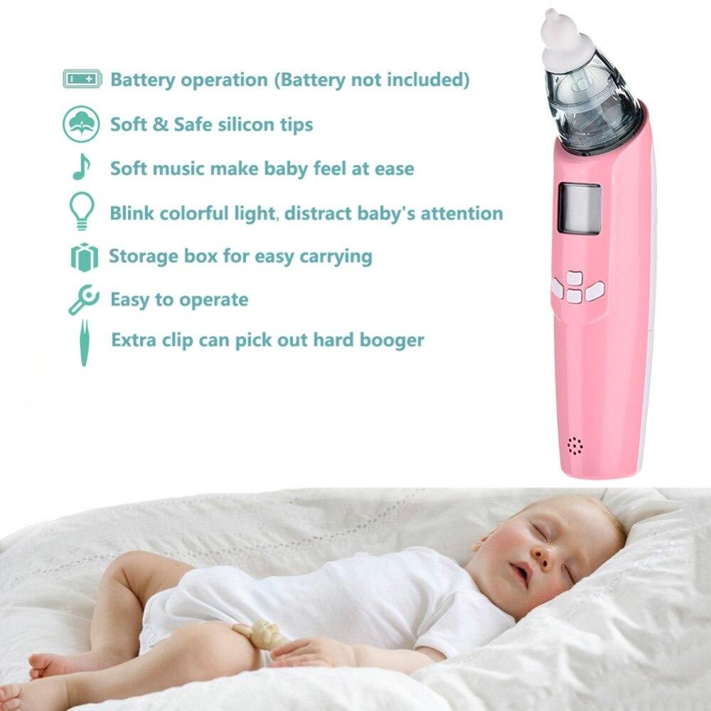 Купить с кэшбэком Safe baby electric nasal aspirator music nose snot nasal aspirator inhalation equipment newborn baby toddler infant care tools