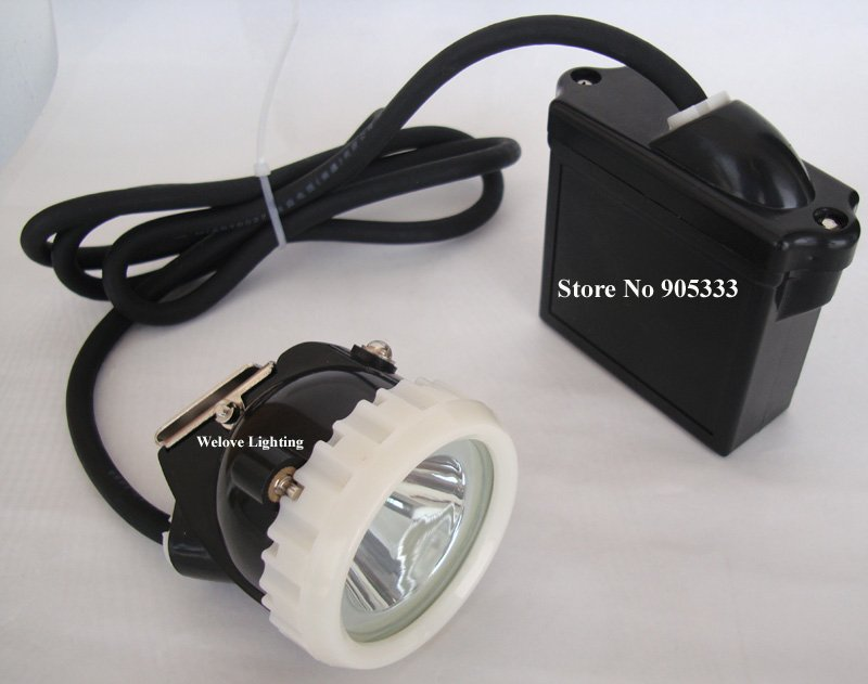 Купить с кэшбэком 5W LED Mining Lamp,Headlamp,Mining Light Charger Through Battery,Free Shipping