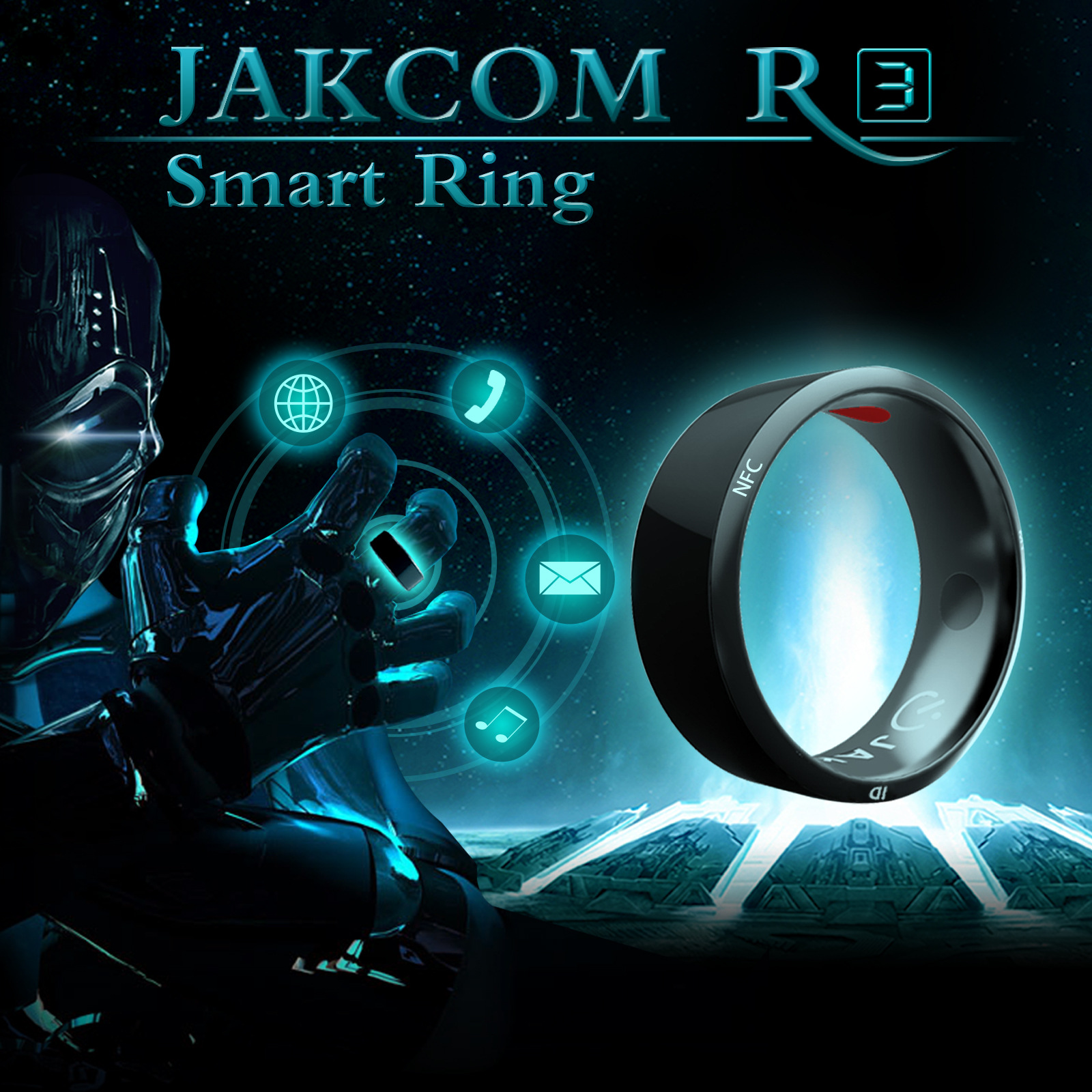 Werable Devices Jakcom R3 Smart Ring Electronic CNC Metal Mini Magic RFID NFC Rewritable Ring IC/ID Access Control Card