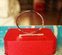 Pulseiras Titanium Steel Carter Love Bracelet For Women Men Love H Bracelets Bangles Screwdriver Box Set