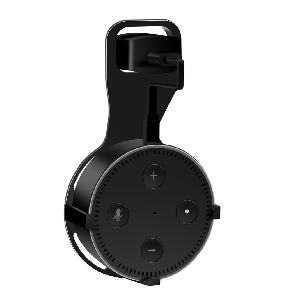 For Echo Dot 2 Speaker Wall Plug Bracket Smart Loudspeaker Wall Mount Stand For Echo Dot 2 Fixed Holder