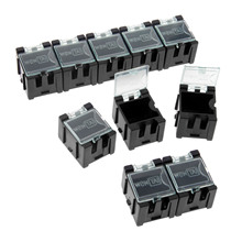 DRELD 10Pcs Anti-static Components Boxes Parts Case ESD Storage Tool Box Black S