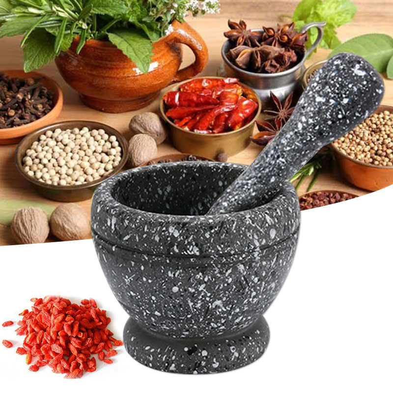 Garlic Grinder Spice-Crusher Pepper Herbs Kitchen-Tool Gingers Mortar Pestle Resin Bowl