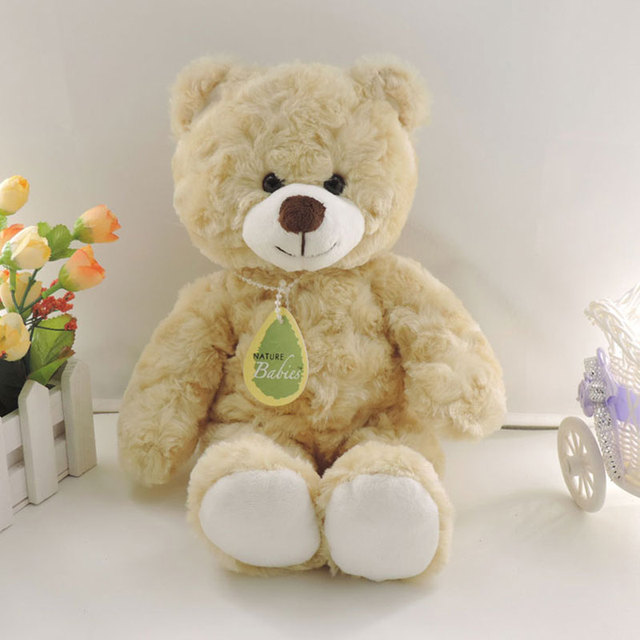 (1 piece) 30cm Small Cute Teddy Bears Stuffed Animals Soft Plush Toys White Beige Brown Hold Bears Bow/Necklace Randomly Deliver