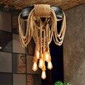 Современный подвесной светильник Лофт шиномонтажный подвесной светильник Ретро Подвесная лампа Dia62cm для бара Кофейня освещение для бара д...