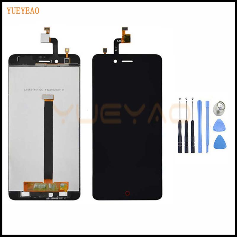 YUEYAO 5 inch LCD Display + <font><b>Touch</b></font> <font><b>Screen</b></font> Digitizer Assembly Smartphone Replacement For <font><b>ZTE</b></font> <font><b>Nubia</b></font> <font><b>Z11</b></font> <font><b>Mini</b></font> TD-LTE NX529J LCD image