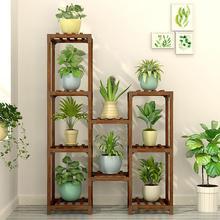 Твердый деревянный напольный зеленый одноместный цветочный горшок, полка для цветов, многослойная, для помещений, Специальный балкон, для дома, гостиной, Новинка