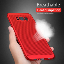 NTSPACE For Samsung Galaxy S10 S9 S8 Plus S7 S6 Edge Case Mesh Cooling PC Hard Back Cover Note 5 8 9