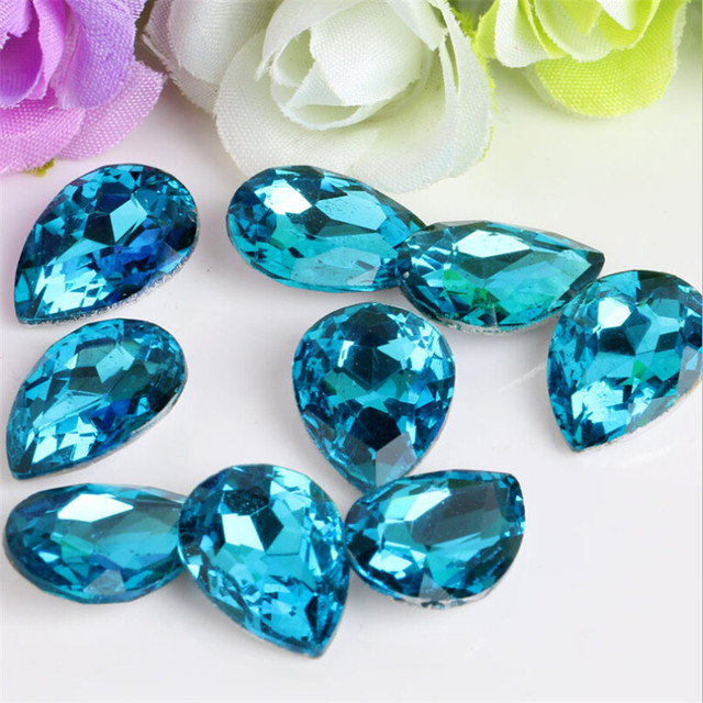 50pcs Colors Pointback Teardrop Aquamarine Evening Dress Decorations  Glueing On Rhinestones For Nail Art Designing a5fc84f7e4e4