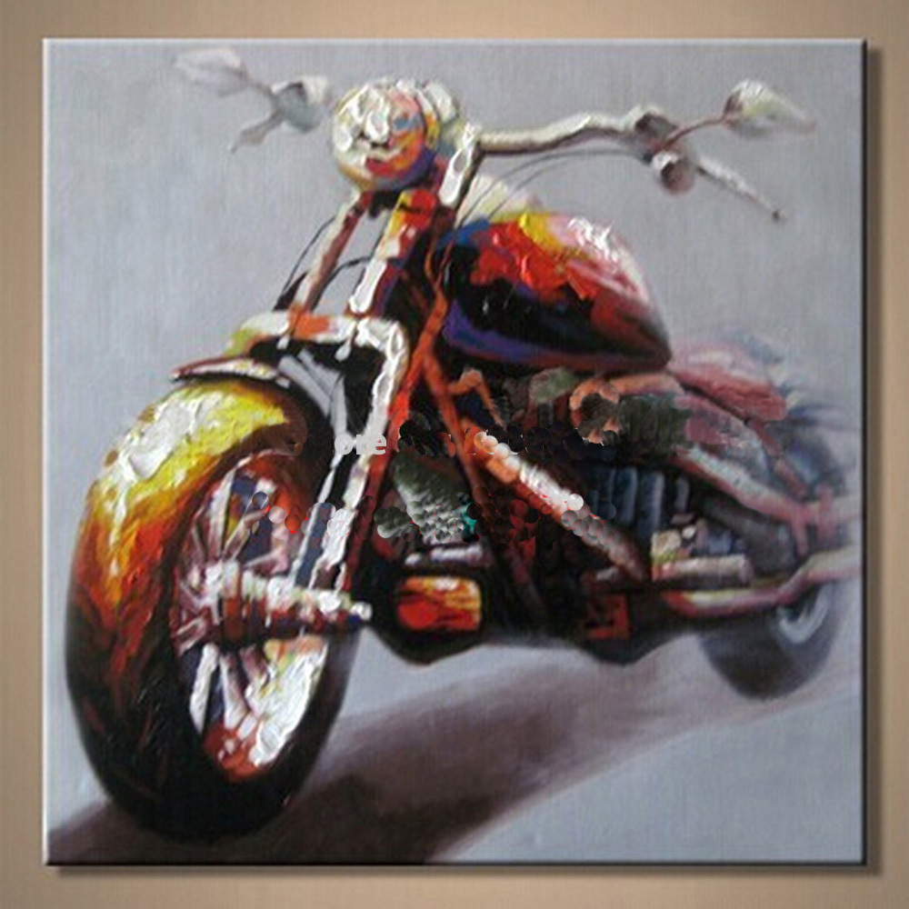 ᑎ‰Cuadros modernos de la pared de la lona caliente moto sin marco ...
