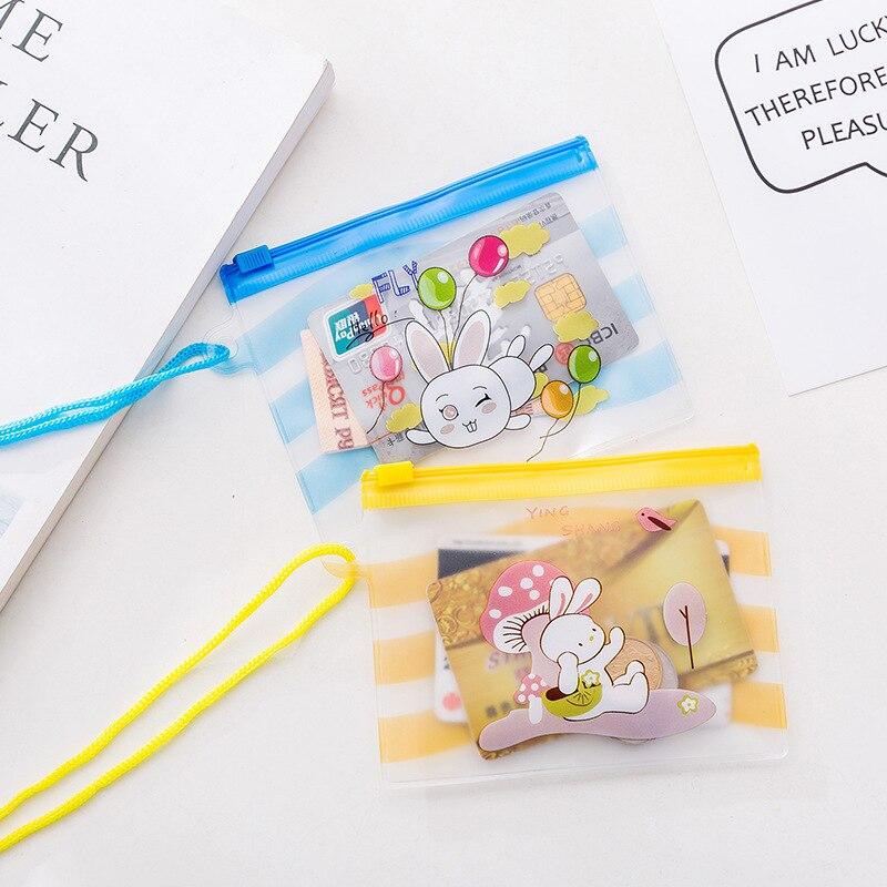 New Cartoon Mini Women Purse Coin Holder Wallet Money Bags Plastic Coin Key Card Wallet Zipper Change Case Purses Girl
