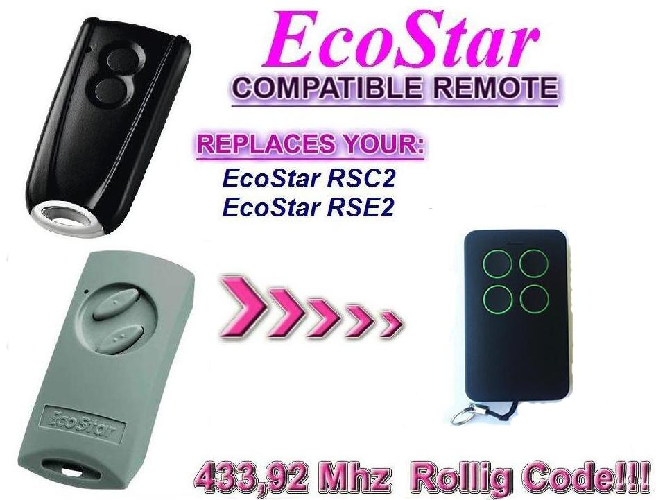 Garage Door Remote Control Compatible with Hormann Ecostar RSE2 RSC2 Handsender 433Mhz rolling code free shipping after market avanti garage door remote control replacement opener transmitters with rolling code free shipping