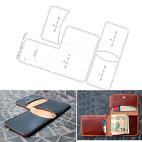 DIY leather folded small coin bag wallet die cutting knife mould template hand punch tool set