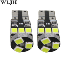 WLJH 6x Canbus W5W T10 LED Car Light 9 LED 2835 SMD Interior Light Dome Map