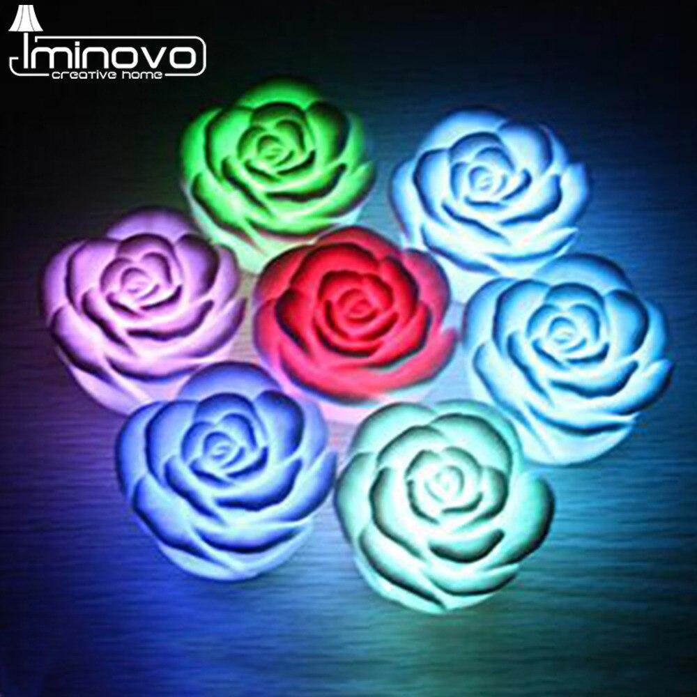 Luzes da Noite iminovo romantico rose flor colorida Tipo : Night Light