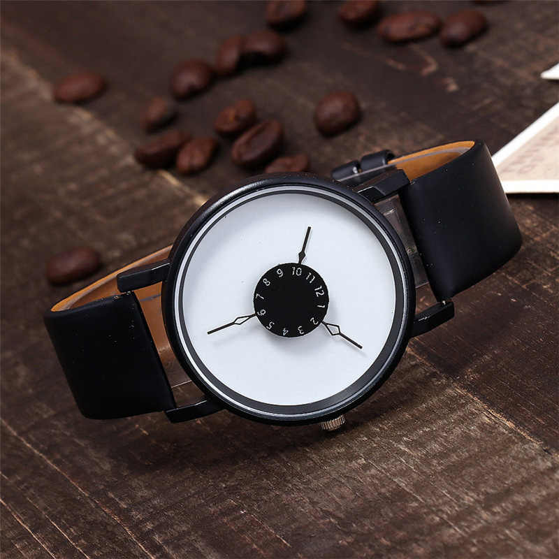 New Women Luxury Leather Geneva Neutral Watches man Watch Cheap Lady Girls Wristwatches Gift Hours Geneva relojes mujer clock