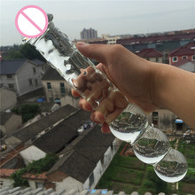ZCZ Large Pyrex glass crystal dildo penis Anal butt plug Sex toy Adult products for women men female male masturbation WQ012