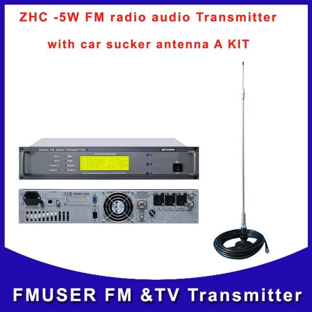 ZHC618F 5W 5 W Transmissor transmissão FM exciter profissional pequena  estação de rádio fm radiodifusão