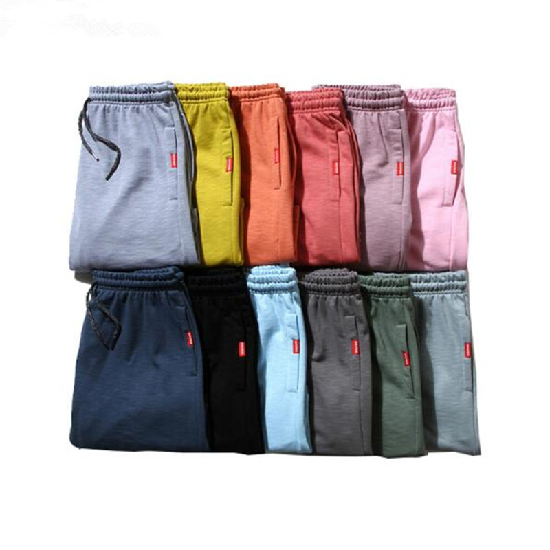 2017 Summer Solid Color Blank Shorts Men  Bamboo Cotton Multy Colors Casual Mens Shorts  Elastic Waist Drawstring Cotton Shorts