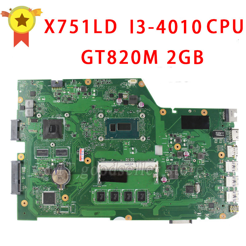 For ASUS Motherboard X751LD X751L K751L K751LN REV 2 0 Mainboard USB3 0 DDR3 With I3