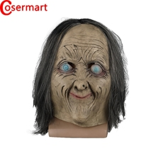 Cosermart Latex Mask Scary Horror Adult Masks Dressed Zombie Devil Halloween Party Prop Masquerade Cosplay Old Woman