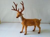Large 25x9x35cm Artificial Deer Model Polyethylene Faux Furs Handicraft Figurines Home Garden Decoration Toy Gift