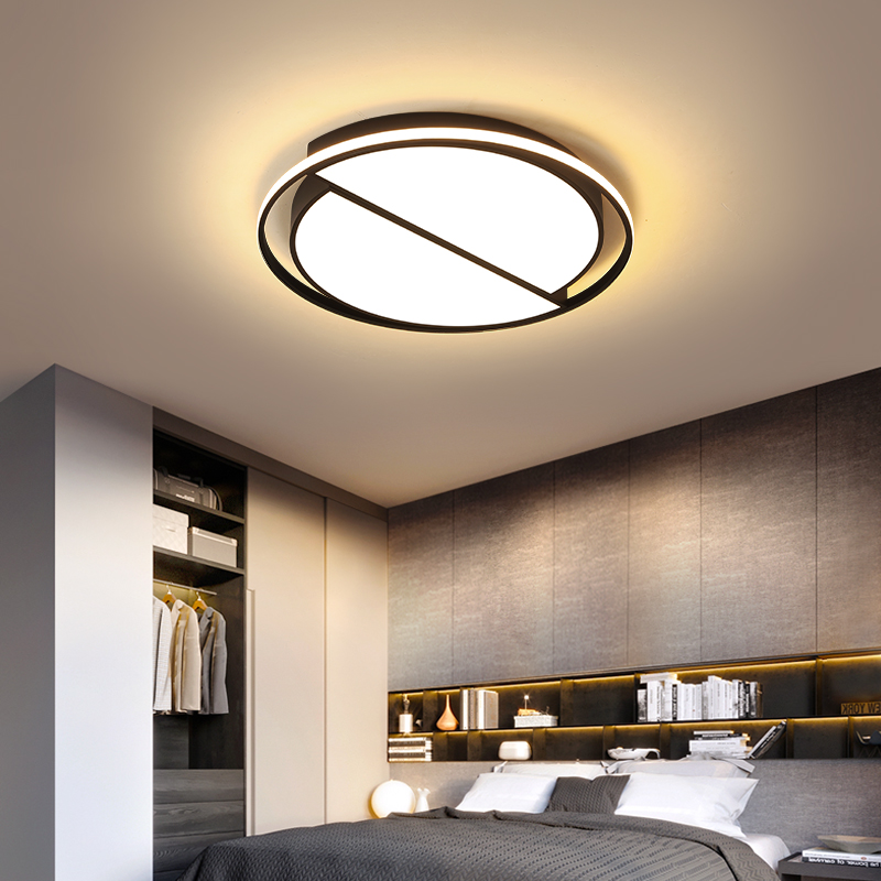 RC Dimmable Round Modern led Ceiling Lights for living Room Bedroom Study Room Black or White+Black Finished Ceiling LampRC Dimmable Round Modern led Ceiling Lights for living Room Bedroom Study Room Black or White+Black Finished Ceiling Lamp