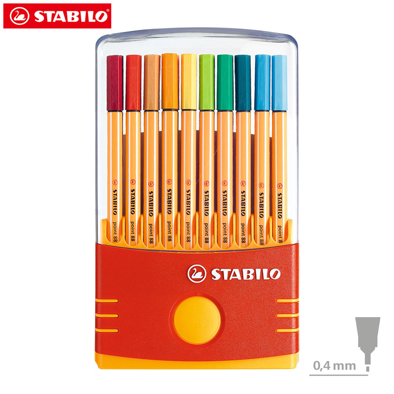 Stabilo Point 88 Fineliner Illustration Pens,Extra fine Product Design Art Marker Graphic 0.4 mm 10/20-Color Plastic Case SetStabilo Point 88 Fineliner Illustration Pens,Extra fine Product Design Art Marker Graphic 0.4 mm 10/20-Color Plastic Case Set