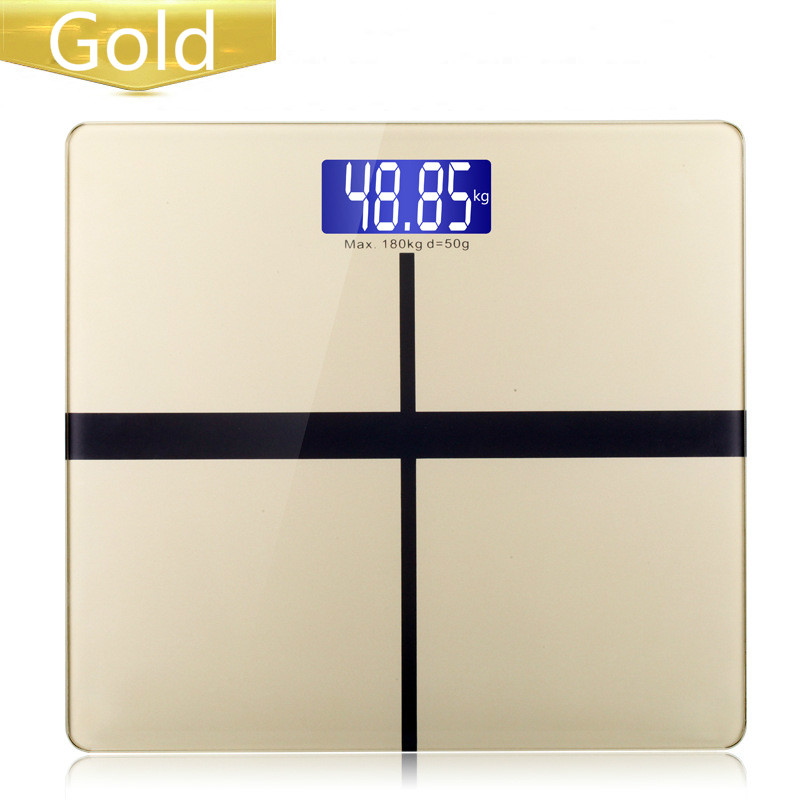 Glass LED Display 180kg  Bathroom Scales Accurate Smart Electronic Digital Weight Home Floor Health Balance Body(China)