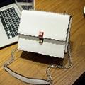 PU leather women satchels bag shoulder crossbody bags zipper ribbon messenger chain bag fashion design wave edge tote bag HB0104