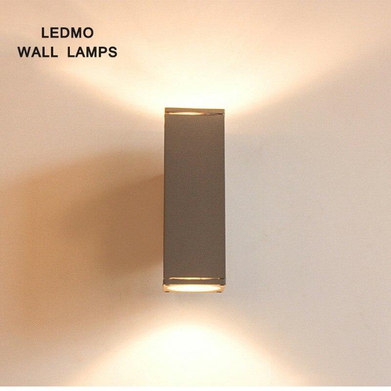 LED carré applique LED MO extérieur étanche cour hall intérieur applique murale froid chaud couleur aluminium simple lumière et lumineux