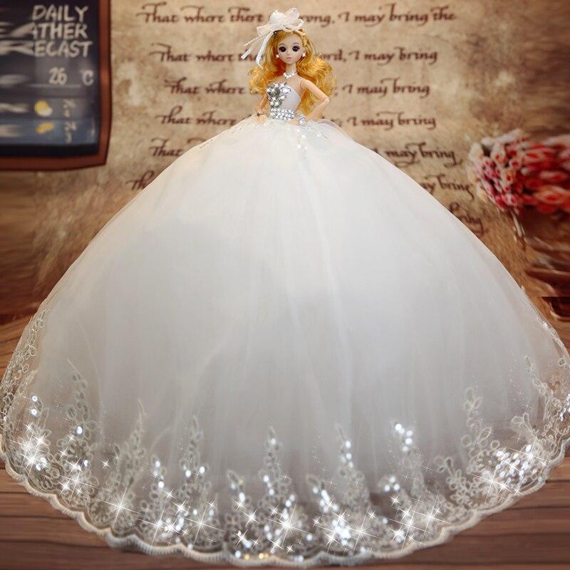 חם למכור 45cm שמלת כלה בובה צעצועים הדף כיתה קבל בובות נשוי יום הולדת מתנה עבור בנות מתנה לילדים 25