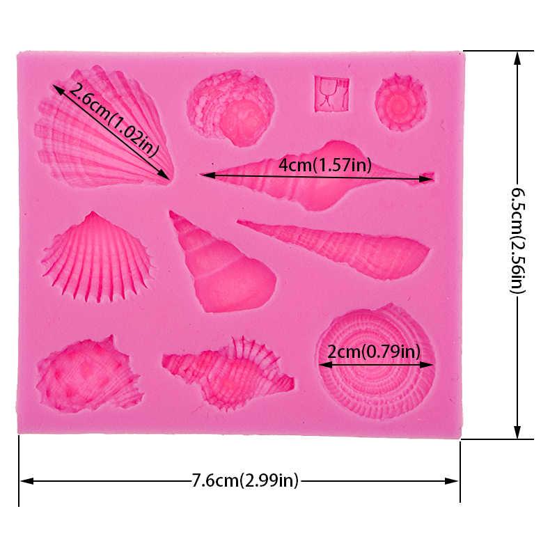 חיים ימיים פגז קונכייה DIYcake עובש סיליקון אפיית כלים מטבח אביזרי קישוטים לעוגות פונדנט עובש F0542