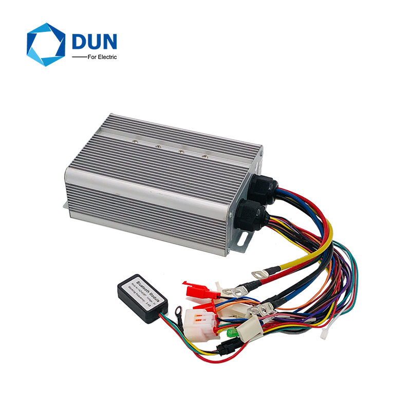 Yuyang King YKZ7250 48V-72V 50A 800W-1000W BLDC Controller Programming For Electric Scooter Bicycle With Bluetooth