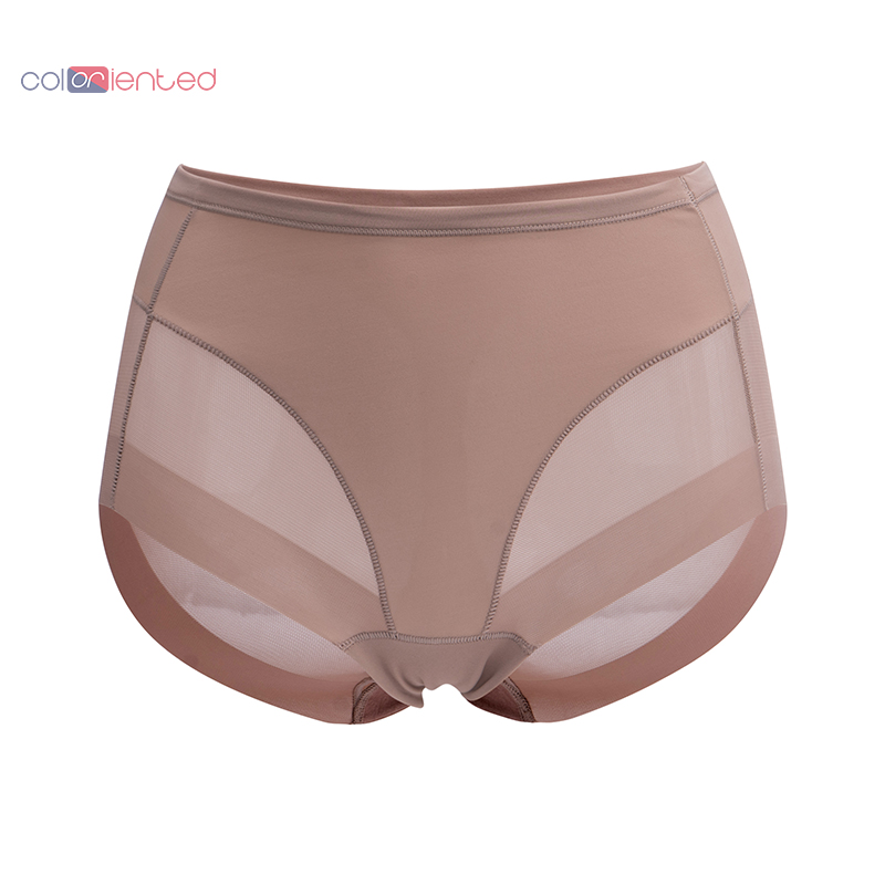 COLORIENTED Women Boyshorts Body Shaping Panties Female Pants High Elastic Control Briefs Seamfree Breathable Mesh Intimates(China)