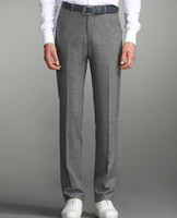 Free Shipping Formal Western Style Trousers Male Fashion Slim Trousers Flannel Wool Suit Pants Elegant Pantalon Homme