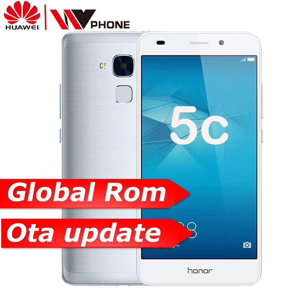 "WV Original Huawei Honor 5C 4G FDD Mobile Phone 2G Ram 16g ROM Kirin 650 Octa Core 5.2"" FHD 1080P 13.0MP"