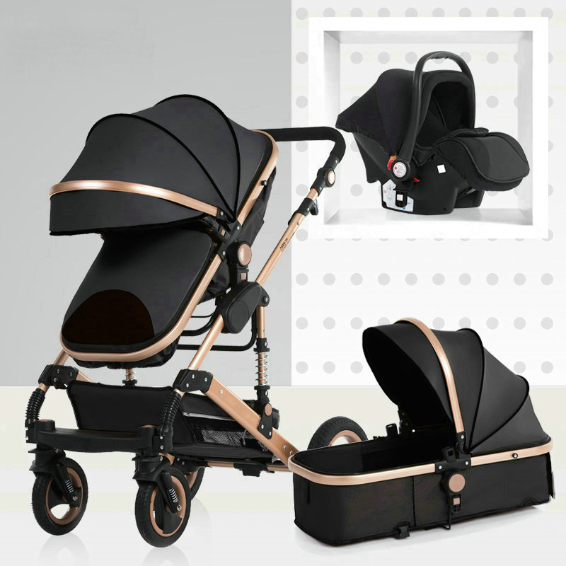 Baby Carriage High Landscape Can Sit And Fold Two-way Four-wheel Shock Absorber Winter Trolley Stroller Baby Stroller 3 In 1
