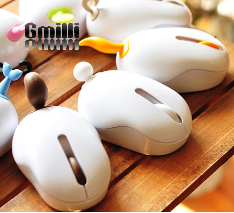 Gmilli Cute Mini Creative USB Cordless Cartoon 2.4 GHz Optical Wireless Mouse Mice For PC Mac Laptop Desktop Dropshipping
