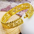 Perfect Hollow  Yellow Gold Filled Fashion Womens Bangle Dia 63mm