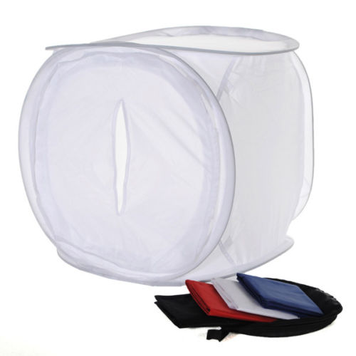EDT-40x40cm Photo Studio Shooting Light Box Tenda 4 Colori Contesti